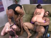 Giselle Leon: She shares the festivities with Shane Diesel and Brian Pumper and that's when the cuckold really feels some pent up frustration.
