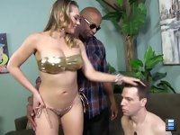 Kagney Linn Karter: The cuckold pays for this experience - getting a first class education in how a white woman needs to get fucked.